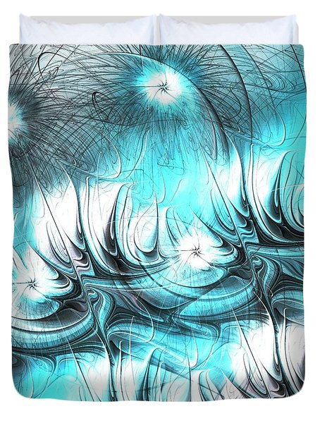 Duvet Cover featuring the digital art Strange Things by Anastasiya Malakhova