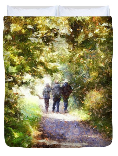 Strangers On A Footpath / In To The Light Duvet Cover