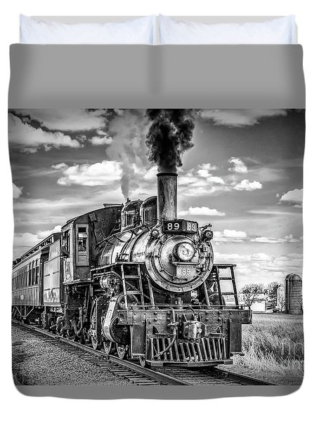 Duvet Cover featuring the photograph Strasburg Canadian National 89 by Nick Zelinsky