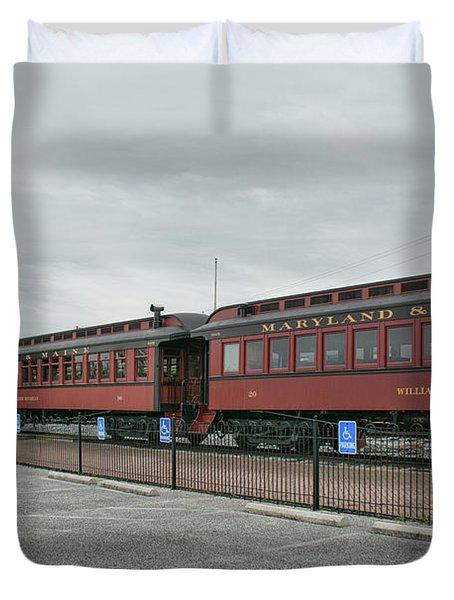 Strasburg Railroad Duvet Cover