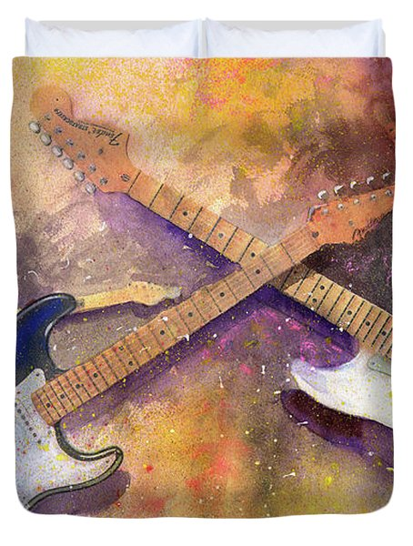 Strat Brothers Duvet Cover