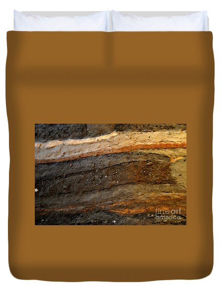 Strata 2 Of Birka Viking Village Duvet Cover by Jacqueline M Lewis