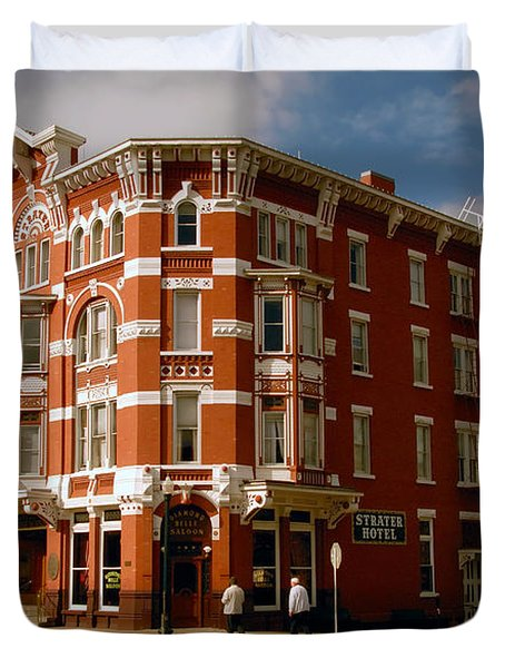 Strater Hotel 1887 Duvet Cover by David Lee Thompson