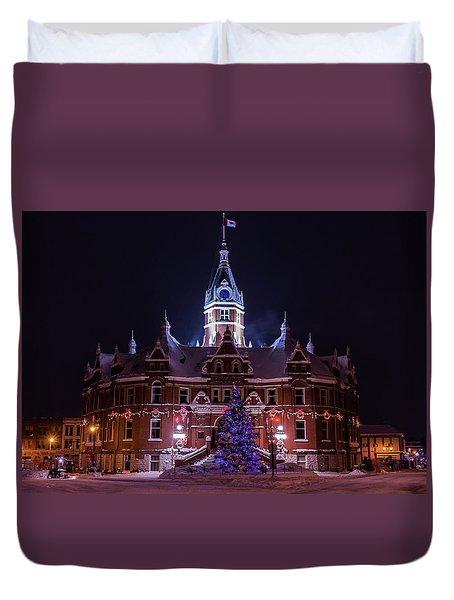 Stratford City Hall Christmas Duvet Cover