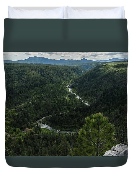 Stratobowl Overlook On Spring Creek Duvet Cover