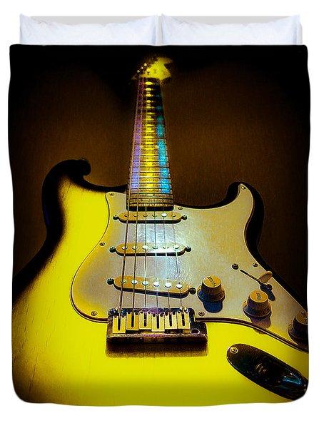 Stratocaster Lemon Burst Glow Neck Series Duvet Cover