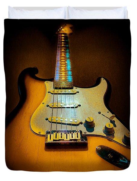 Stratocaster Tobacco Burst Glow Neck Series  Duvet Cover