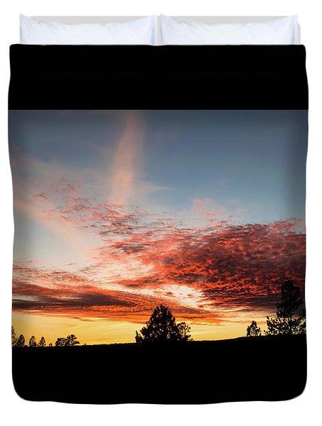 Stratocumulus Sunset Duvet Cover