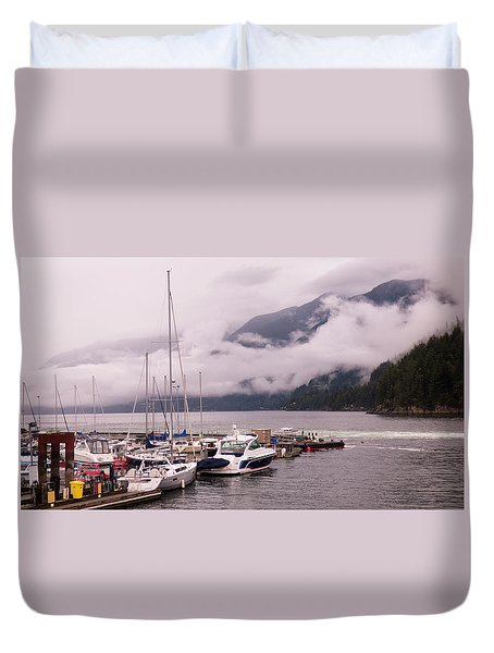 Stratus Clouds Over Horseshoe Bay Duvet Cover