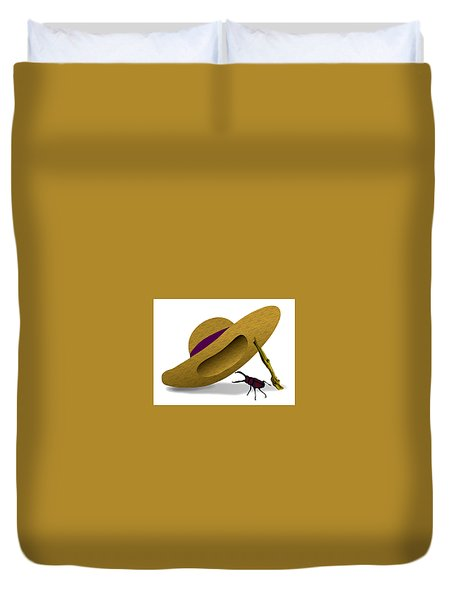 Straw Hat And Stag Beetle Duvet Cover