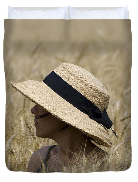 Straw Hat Duvet Cover
