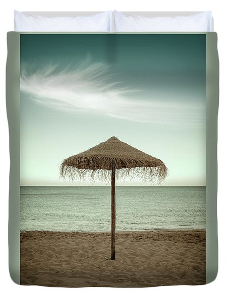 Duvet Cover featuring the photograph Straw Shader by Carlos Caetano