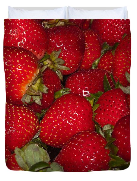Strawberries 731 Duvet Cover