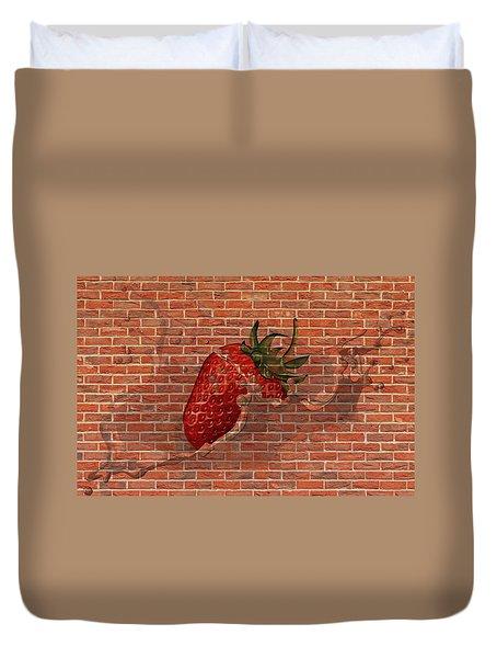 Strawberries And Cream Amazing Graffiti Duvet Cover
