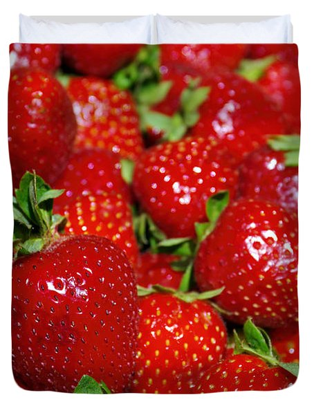 Strawberries Duvet Cover by Carlos Caetano