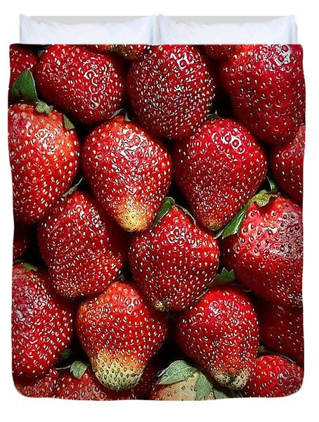 #strawberries #instagrammers #instapic Duvet Cover
