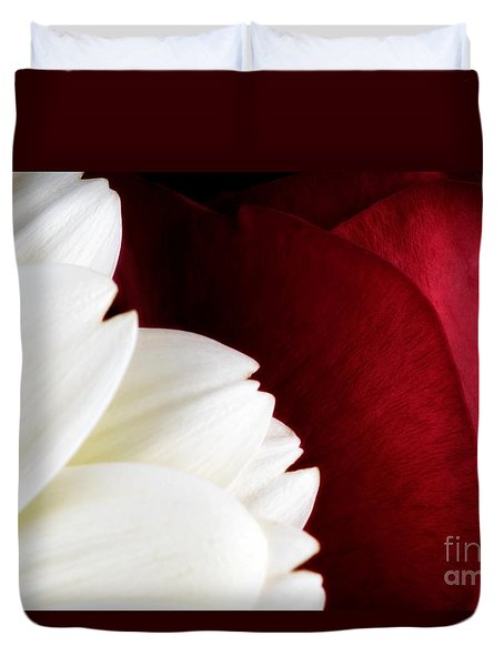 Strawberry And Cream Duvet Cover by Mark Johnson