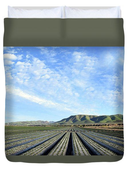 Duvet Cover featuring the photograph Strawberry Fields Forever 2 by Floyd Snyder