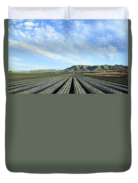 Duvet Cover featuring the photograph Strawberry Fields Forever 3 by Floyd Snyder