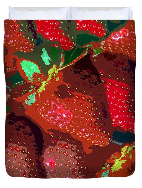 Strawberry Fields Forever Duvet Cover by David Lee Thompson