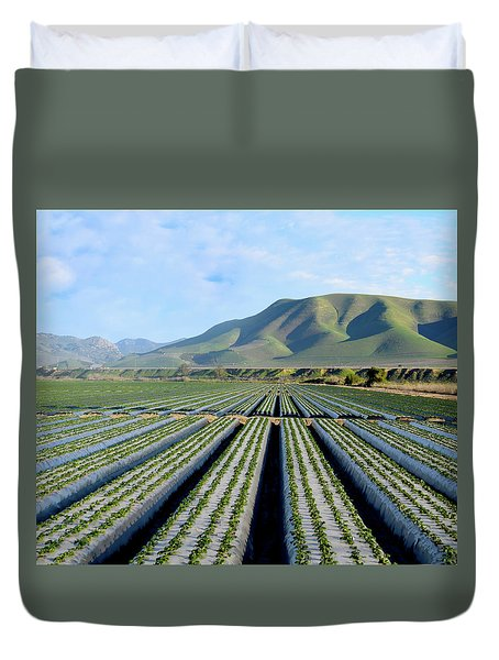 Duvet Cover featuring the photograph Strawberry Fields Forever by Floyd Snyder