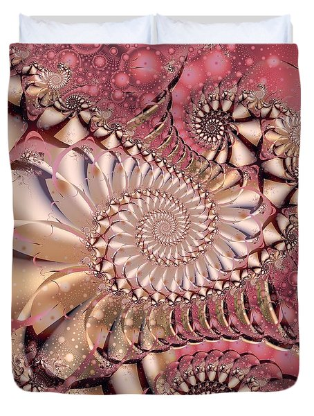 Duvet Cover featuring the digital art Strawberry Lemonade by Michelle H