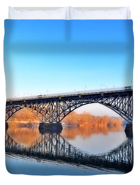 Strawberry Mansion Bridge  Duvet Cover by Bill Cannon