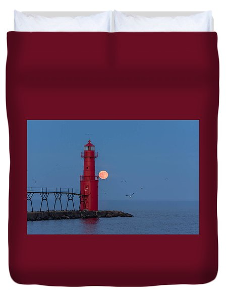 Strawberry Moon Duvet Cover
