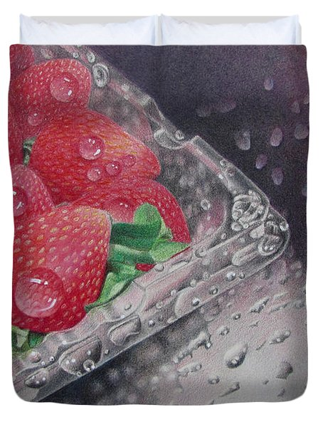 Strawberry Splash Duvet Cover