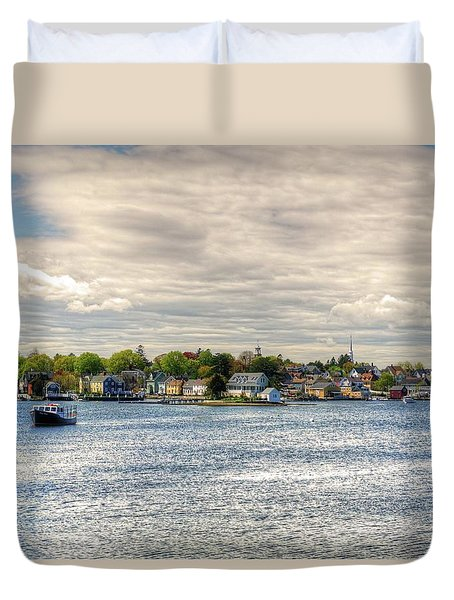 Duvet Cover featuring the photograph Strawbery Banke by Wayne Marshall Chase