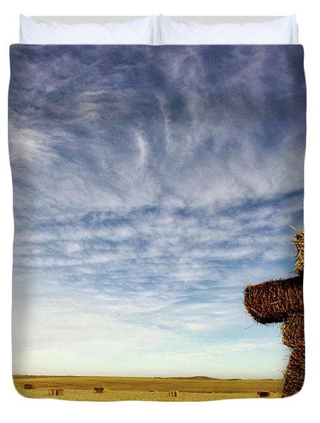 Strawman On The Prairies Duvet Cover