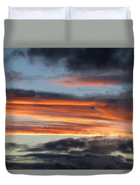 Streaky Sunset Duvet Cover