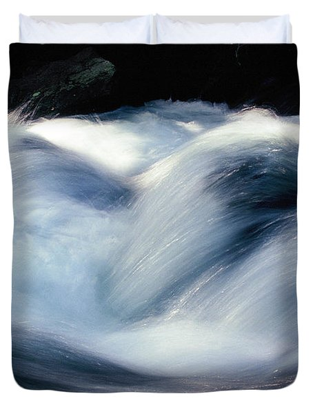 Duvet Cover featuring the photograph Stream 1 by Dubi Roman