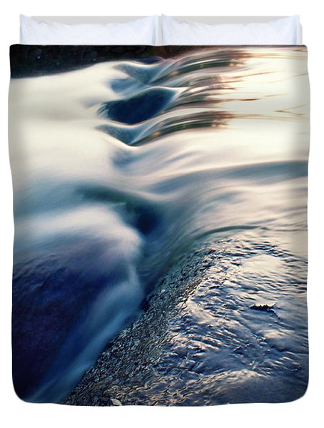 Duvet Cover featuring the photograph Stream 4 by Dubi Roman