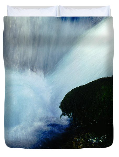 Duvet Cover featuring the photograph Stream 5 by Dubi Roman