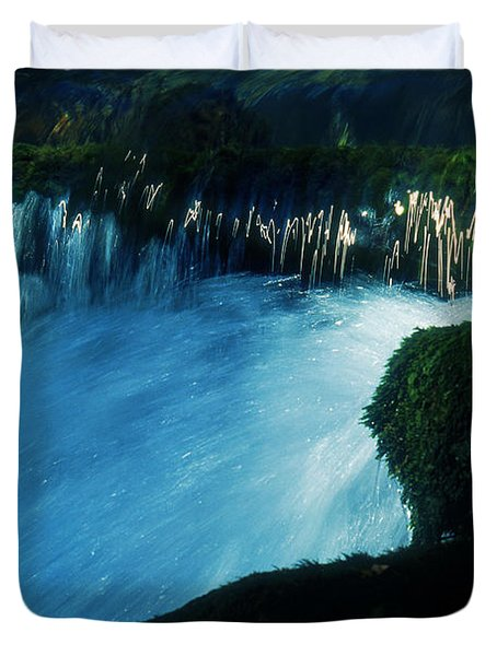Duvet Cover featuring the photograph Stream 6 by Dubi Roman
