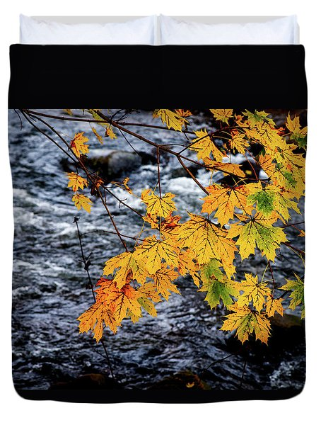 Stream In Fall Duvet Cover