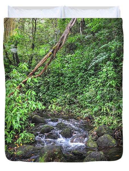 Stream In The Rainforest Duvet Cover