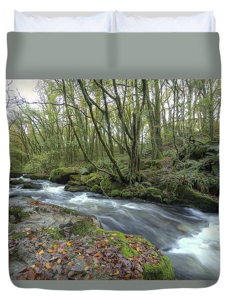 Stream In The Wood Duvet Cover