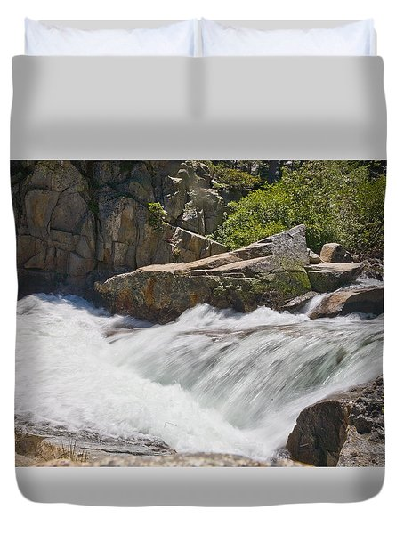 Duvet Cover featuring the photograph Stream In Yosemite National Park by Matthew Bamberg