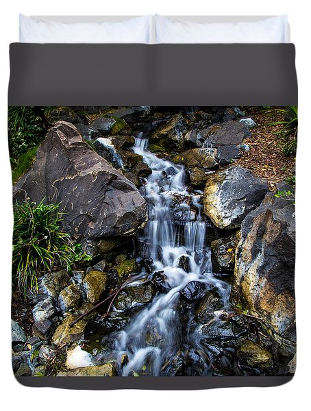 Duvet Cover featuring the photograph Stream by Keith Hawley