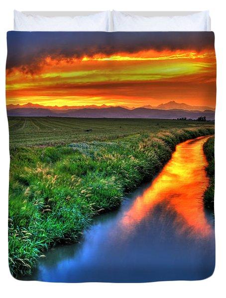 Stream Of Light Duvet Cover by Scott Mahon
