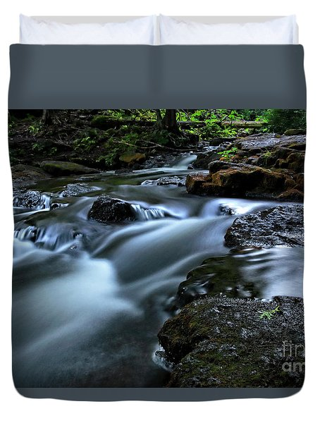 Stream Over Rocks Duvet Cover