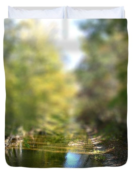 Stream Reflections Duvet Cover by EricaMaxine  Price