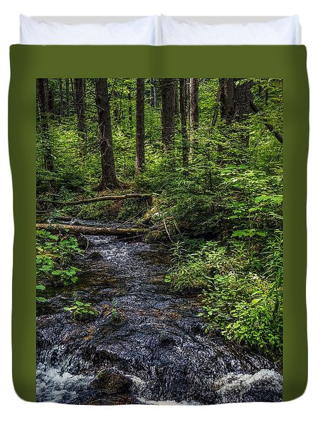 Duvet Cover featuring the photograph Streaming by Kendall McKernon