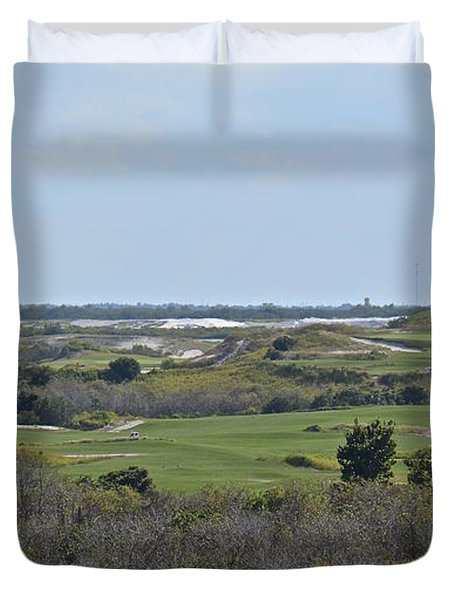 Streamsong Golf Course Duvet Cover