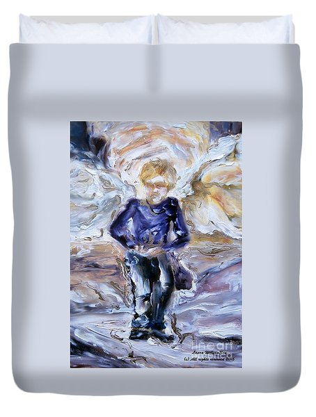 Street Angel Duvet Cover