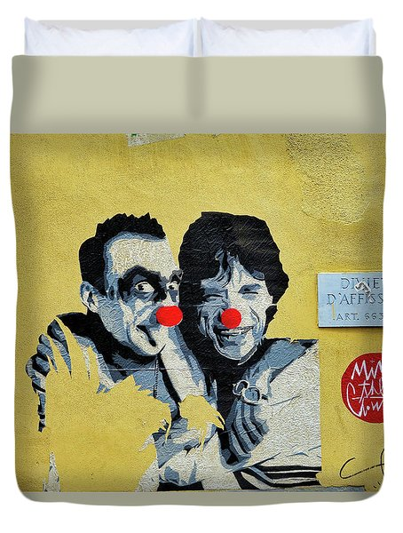 Street Art In The Trastevere Neighborhood In Rome Italy Duvet Cover