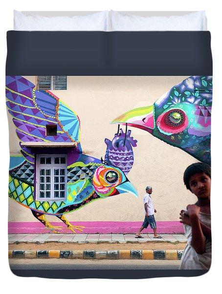 Street Art Duvet Cover by Marji Lang