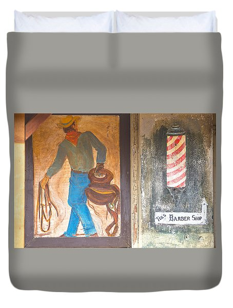 Duvet Cover featuring the photograph Street Art - Melba, Id by Dart Humeston